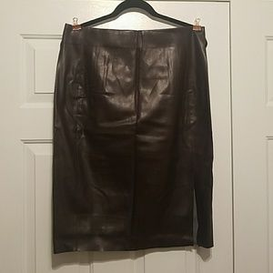 LOFT Vegan Leather Skirt